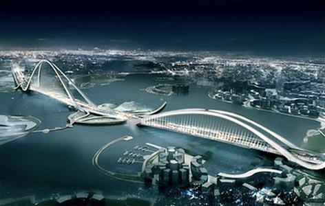 Мост через залив ханчжоувань hangzhou bay